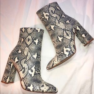 Snakeskin Booties - Pretty Little Thing